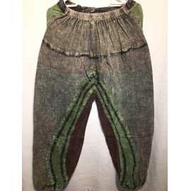 Kőmosott, jázmin/hárem nadrág- szürke, zöld
