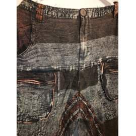 Kőmosott, jázmin/hárem nadrág- szürke,barna