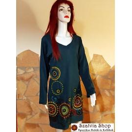 Nepáli tunika-ruha, kék