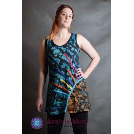 Indiai batikolt -ujjatlan póló